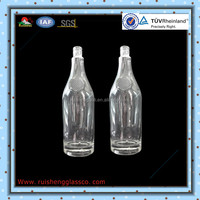 High quality empty fancy glass tequila bottles