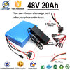 Wholesale OEM li-ion battery pack 12v 10ah li-ion battery pack 48v 20ah with 18650 3.7V Cell Charger BMS