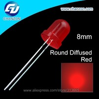 2015 NEW Red to RedThrough Hole Disffused Round 8mm Led Diode RED