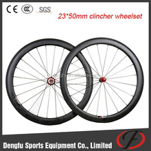 Dengfu new arrival tublesse wheels, 23mm wide clincher wheelset, carbon road bicycle wheel