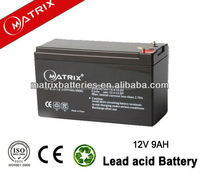 China 9ah 12v generator storage battery for wind system