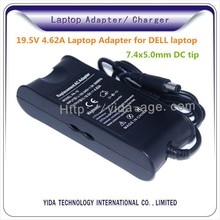 100% original high quality laptop adapter charger for Dell 19V4.62A 7.4X5.0