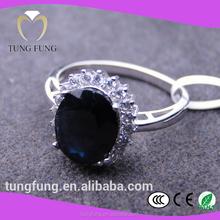 ingrosso bigiotteria in argento massiccio 925 anelli anello di zaffiro naturale