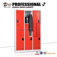 OEM &ODM 6 doors z shape steel locker/steel cupboard/iron almirah