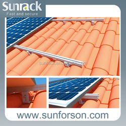 solar panel sloped tile roof mounting system