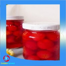 Canned yellow cherry brandy taste, Cherries canned fruits