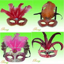 2015 Newest Silver Feather Mask For Party Decoration