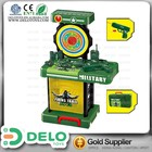 Melhores brinquedos para meninos tiro ao alvo jogo militar cor mala pacote laser gun com luz children play set DE0070011
