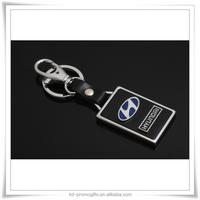 Hyundai Metal Keychain,Nissan 3D Keychain Ring,Metal Car Logo Leather Keychain