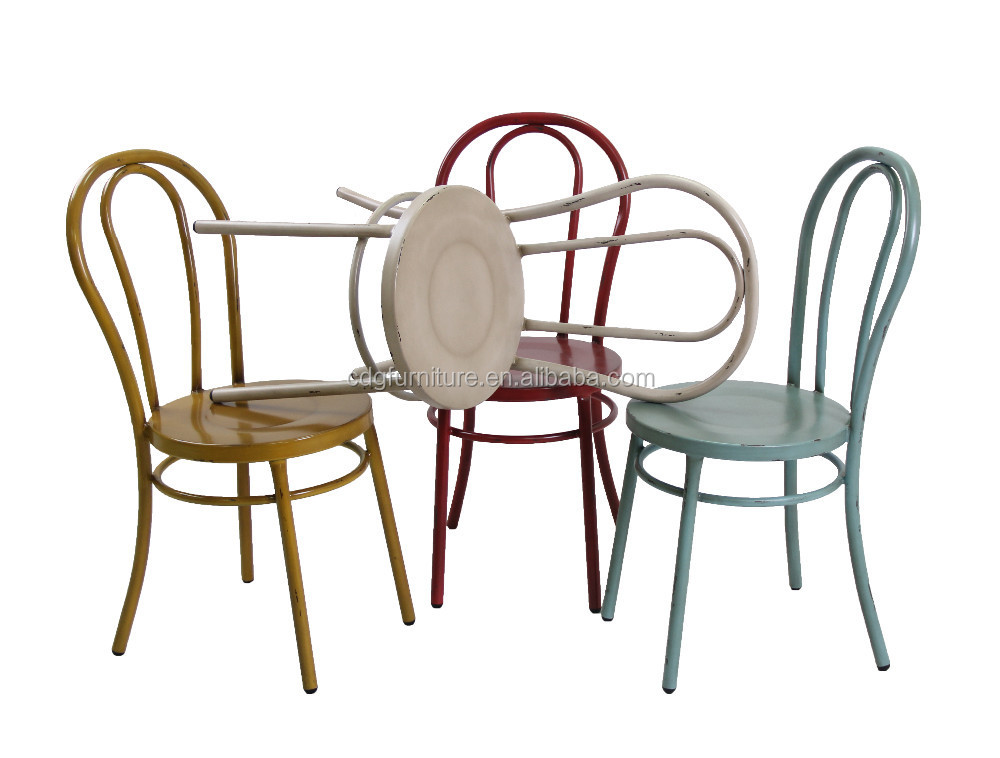 Exclusive Vintage Metal Dining Chairs All Home