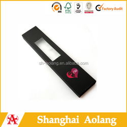 hot sale hair extension cosmetic box for false hair packaging with window