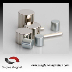 China factory cheap high quality n42 permanent neodymium monopole cylinderical magnet
