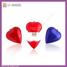 Heart usb flash drive 32gb beautiful usb memory stick plastic usb stick