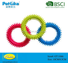 Soft Dog Chew Toy Clean Teeth Pet Products TPR Spike Ring