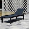 Outdoor furniture double sun,Hotel swimming pool rattan lounger/ sun bed/beach chair rattan furniture,lightweight beach sun bed
