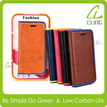 leather phone beauty case for iphone 6 plus,case for mobile phone with free gift screen protector for iphone 6 plus