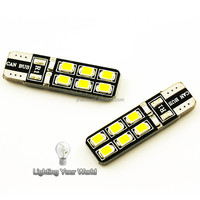 New Auto Led Bulb W5W Canbus Car Parking Lights Bulb t10 12SMD 3528 Backup Light No Error