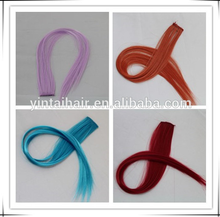 Rich in Color, Highlight Synthetic Straight Hair Clip Easy Clip Hair Extension