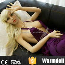 Huge Breast Sex Doll, Blonde Blue Eyes Silicone Girl