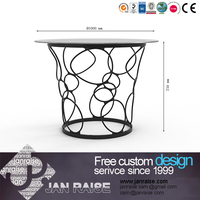 European style small glass dining table set