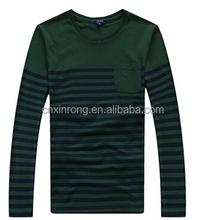 organic cotton t shirt /fashion shirts stripe/men's 2015 yarn dyed tee