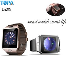 "new tide for china 1.56"" DZ09 living waterproof, uwatch for 2015 smart watch android dual sim Android /iOS Phone"