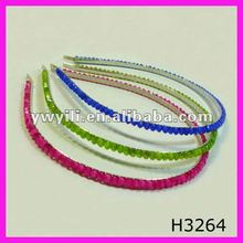 Classic different color clear beaded hair band