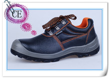 CE EN 20345 2014 black genuine leather upper PU outsole steel toe cap safety shoes price in india