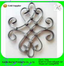 Cheap Decorative Wrought Iron Stiar Handrail Accessories/Rosettes for sales