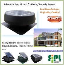 Natural Air Conditioner! 15 watt Inbuilt Solar Panel Powered 14 inch Attic Roof Air Ventilator Fan
