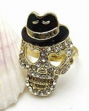 2012 new style Gold Skull Ring
