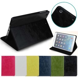 Crazy Horse Pattern Flip leather case for ipad mini 3, for ipad case