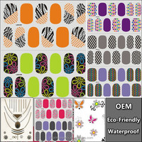 New 2015 3d Gel Nail Art Stickers Cute Pictures Manicure Full Cover Sticker Decals Adhesive Nail Foil LAN041-60
