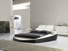leather round bed/ italian leather bed /modern leather bed