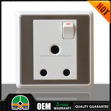 2015 uk type universal multi 15 amp socket with switch 3pin extension cord socket with factory price