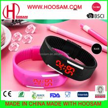 fashion silicon digital wrist watch