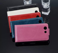 Glossy Flip Leather Case Cover For SONY Xperia Z3 mini M55W