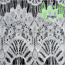 Nylon cotton graceful eyelash lace of fabric for long dress