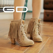 China Supplier Newest Design Fashion Wholesale Tassel Lady Snow Boots