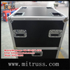 Rack case with 10u section on castors for computer on bottom