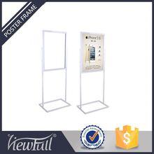 Floor Standing Display Case Poster Holder For Sale