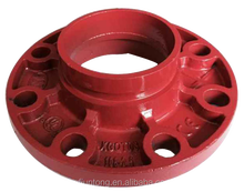 UL FM Ductile Iron Grooved Fittings Flange Adaptor cast iron flange