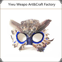 2015 High quality cheap carnival animal mask party feather owl mask for sale