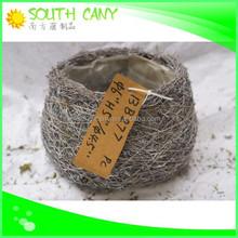 Round handicraft hot sale delicate white cheap small flower pots