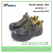 Fabbrica di porcellana di buona qualità prezzo scarpe di sicurezza di marca, anti- Smashing acciaio punta scarpe di sicurezza, scarpe di sicurezza sf5515 bosco