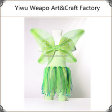 2015 New Elegant Green Skirt Lovely Girl Fairy Wings Costume Princess Fairy Wings Dresses