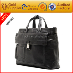 Guangzhou factory OEM bags brand real leather men shoulder hand bags