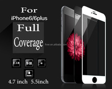 For iPhone 6 6S 6Plus 2.5d full screen cover skin 9h tempered glass screen privacy