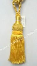 Wholesale silk gold tassels for curtain, tassel tieback in tassel fringe
