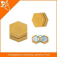cheap wholesale stud earrings magnetic earrings fake ear stud gold plated body jewellery